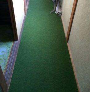 古いカーペット